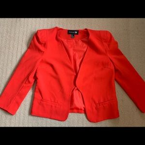 Hot red blazer
